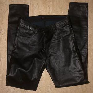 J Brand Super Skinny Blk Coated Pants8151596 sz-26
